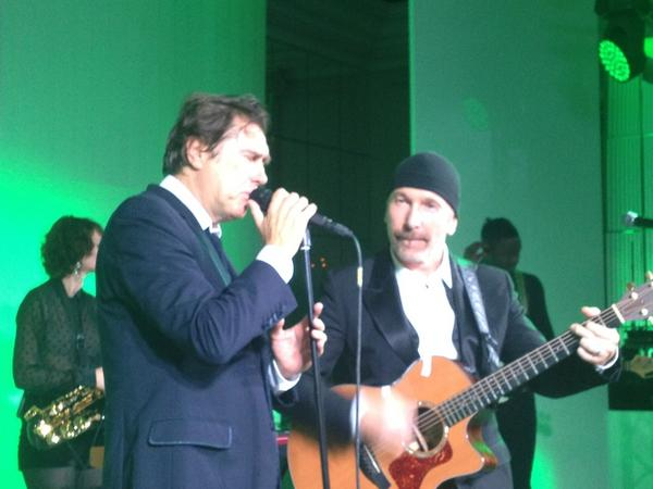 The Edge and Bryan Ferry