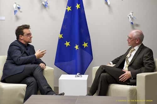 Bono and Herman Van Rompuy