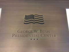 visit to bush museum after u2 dallas!