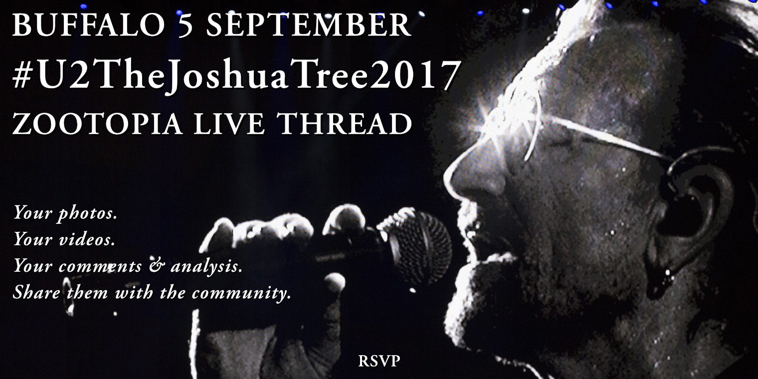Buffalo 5 September #U2TheJoshuaTree2017 Live Thread