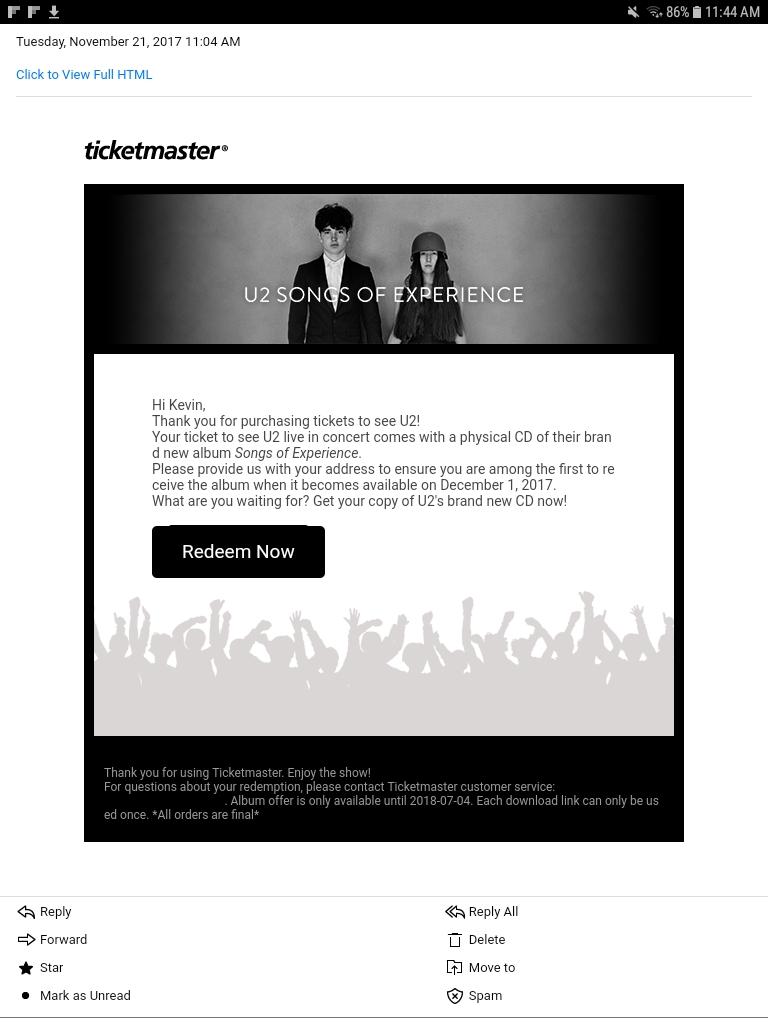 Album email - General #U2eiTour 2018 - Zootopia Community