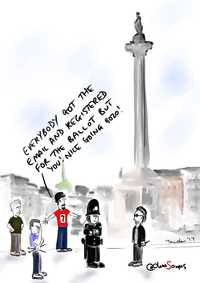 Meanwhile...at Trafalgar Square