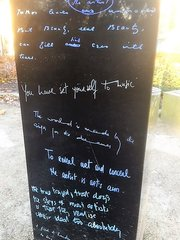 Oscar Wilde Memorial Sculpture - Words chosen by Bono