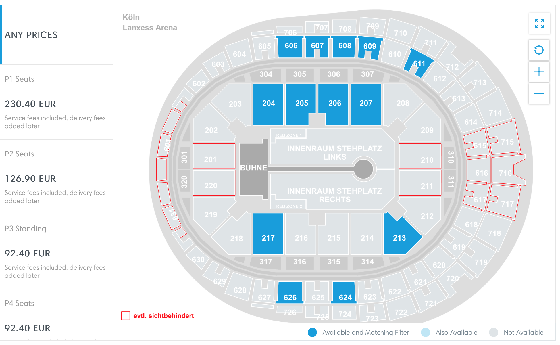 lanxess arena seating chart