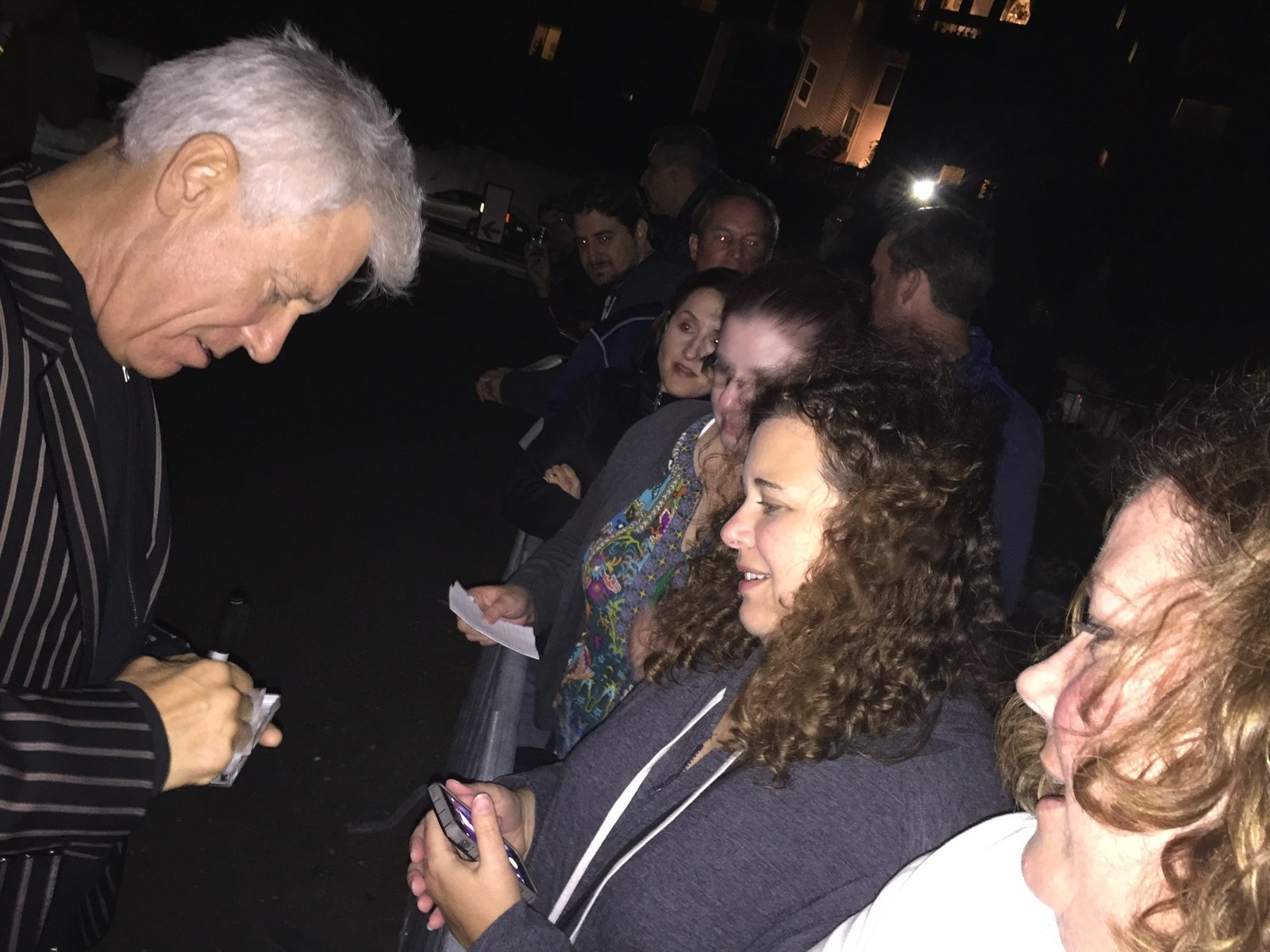 Getting Adam's autograph