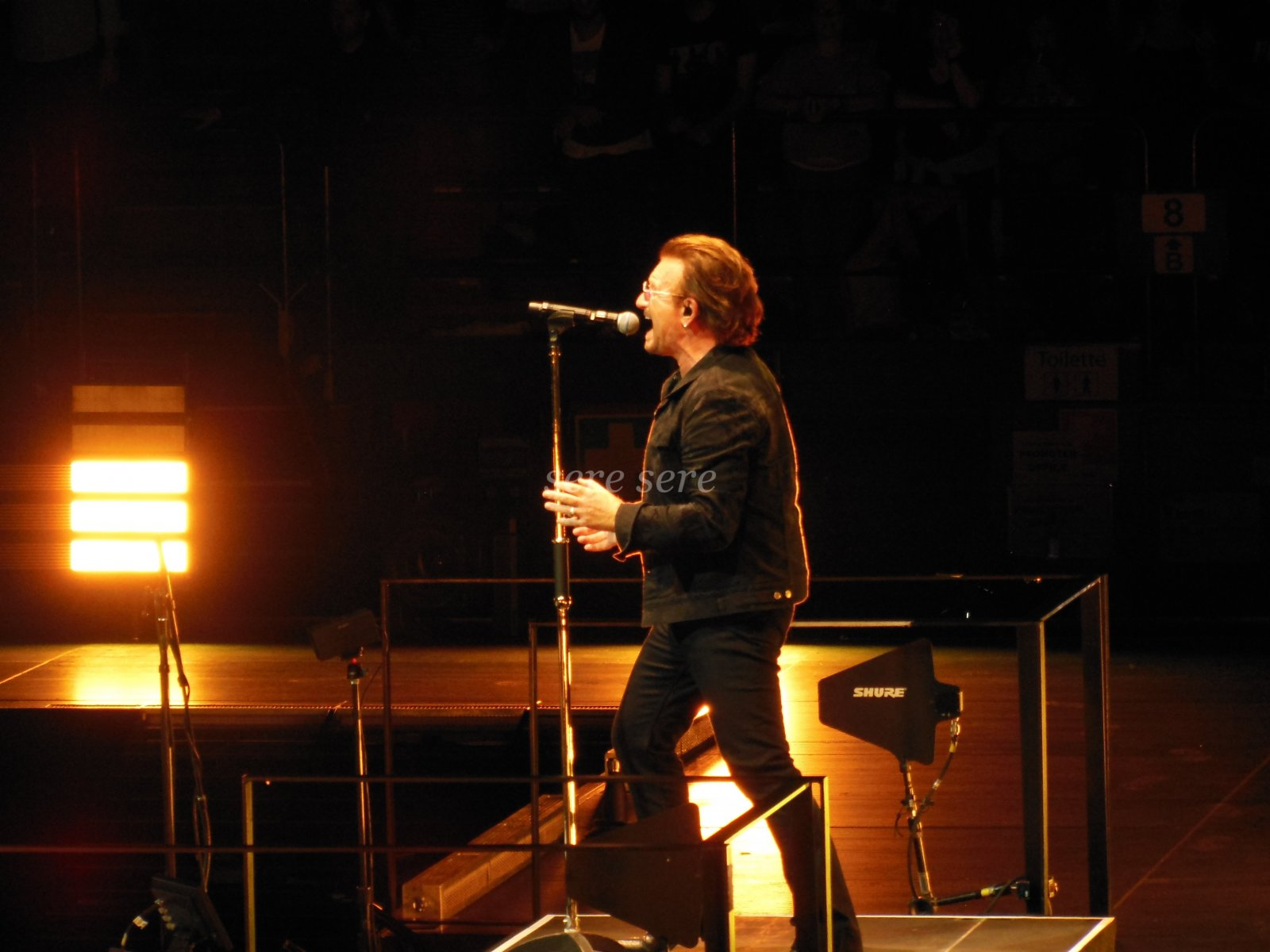 Bono on stage in Milan e+i Tour night 1