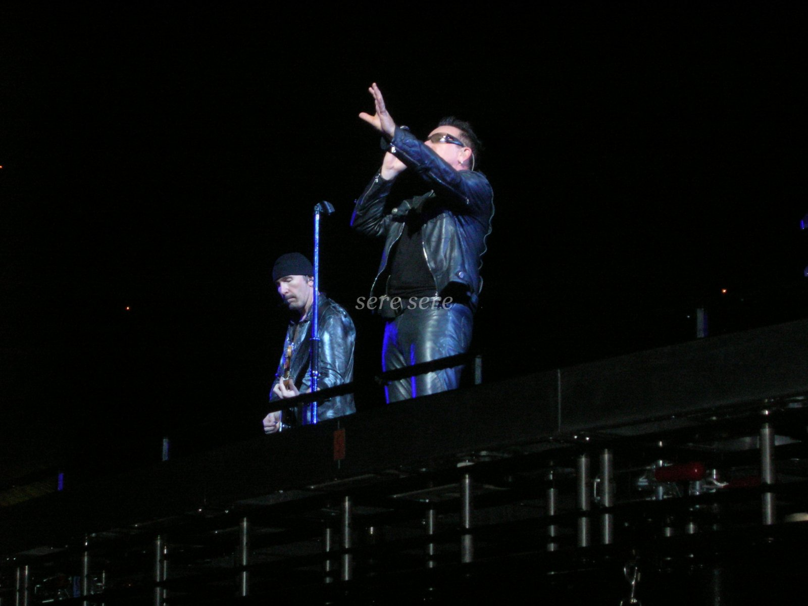 The Edge and Bono on stage in Zurich 360 Tour night 2