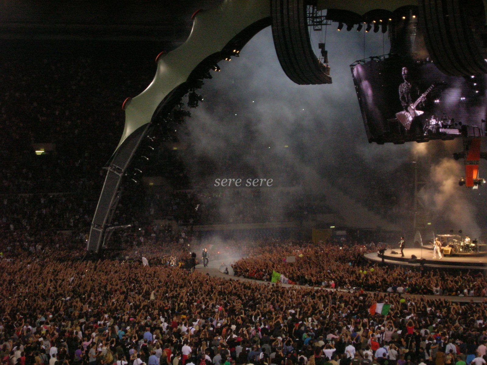 U2 live on stage in Rome 360 Tour