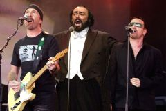 Pavarotti Bono The Edge