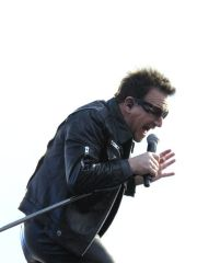 Bono on stage during Daylight