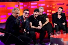 Band with Graham Norton Chatting