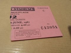 Joshua Tree Tour 1987-Wembley Stadium Ticket Stub
