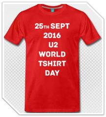 25 Sep 2016 U2 World TShirt Day