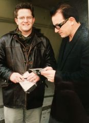 Lance A Schart and Bono, December 1999 (first meeting)