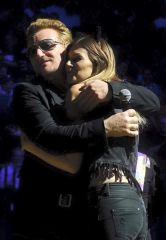 With Bono, on stage :) London