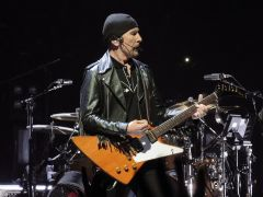 "The Edge Plays ""I Will Follow"" at the Pepsi Center, Denver"