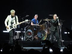 Adam, Larry and Bono at the Pepsi Center, Denver