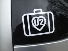 U2 Love in a Suitcase Decal on my car.