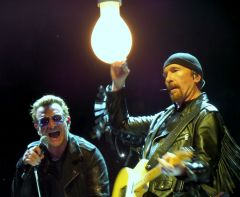 Bono and The Edge, First Night Montreal, Photo by Lora G