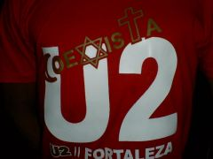 T-SHIRT U2 FORTALEZA FAN CLUB