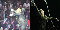Bono-tized  -- My view and the view from the stage at the exact same moment