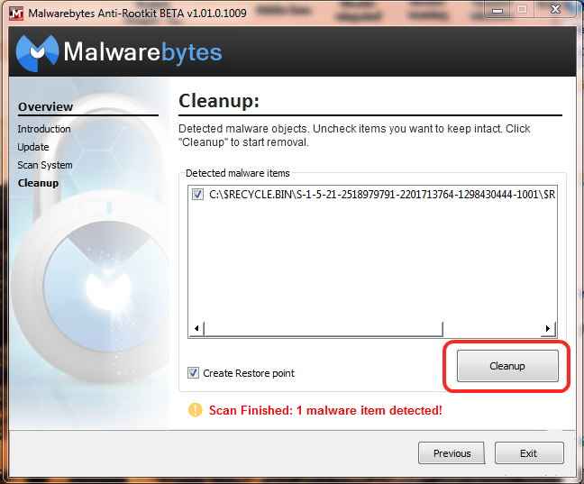 The parameter is incorrect!!! - Resolved Malware Removal Logs -  Malwarebytes Forums
