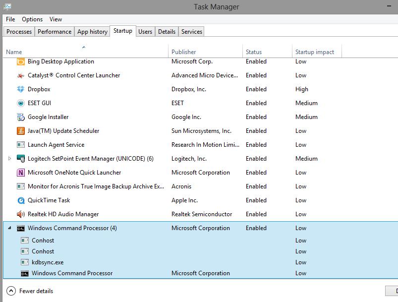 Windows Command Processor - Resolved Malware Removal Logs