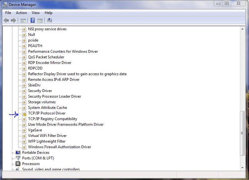 TCP/IP protocol driver problem. - General Windows PC Help
