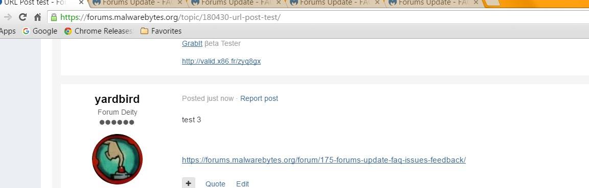 URL bug still present - Forums Announcements & Feedback