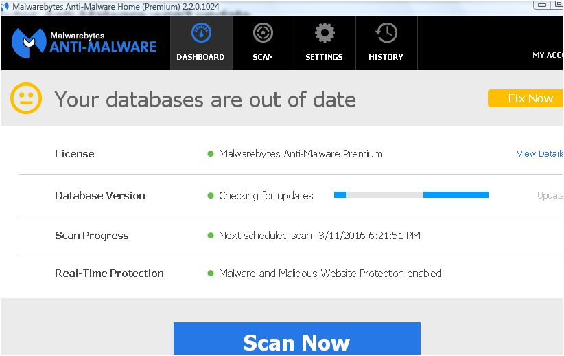 Malwarebytes anti-malware not updating road dating
