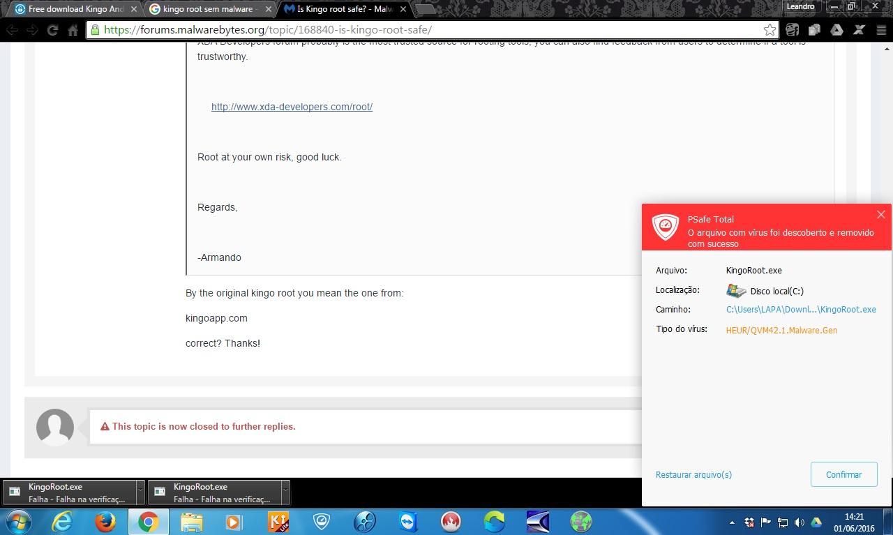 Is KINGO ROOT really safe? - Malwarebytes 3 Support Forum