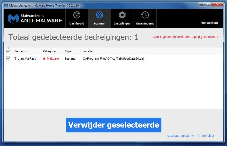 False Positive in UserData64.dat - Office Tabs Enterprise 11.00