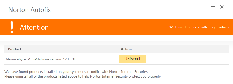 Interfering with Norton? - Malwarebytes 3 Support Forum