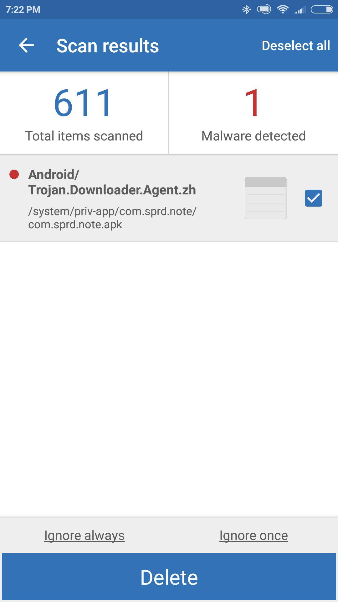 Xiaomi redmi Pro Note apk - Mobile Malware Removal Help