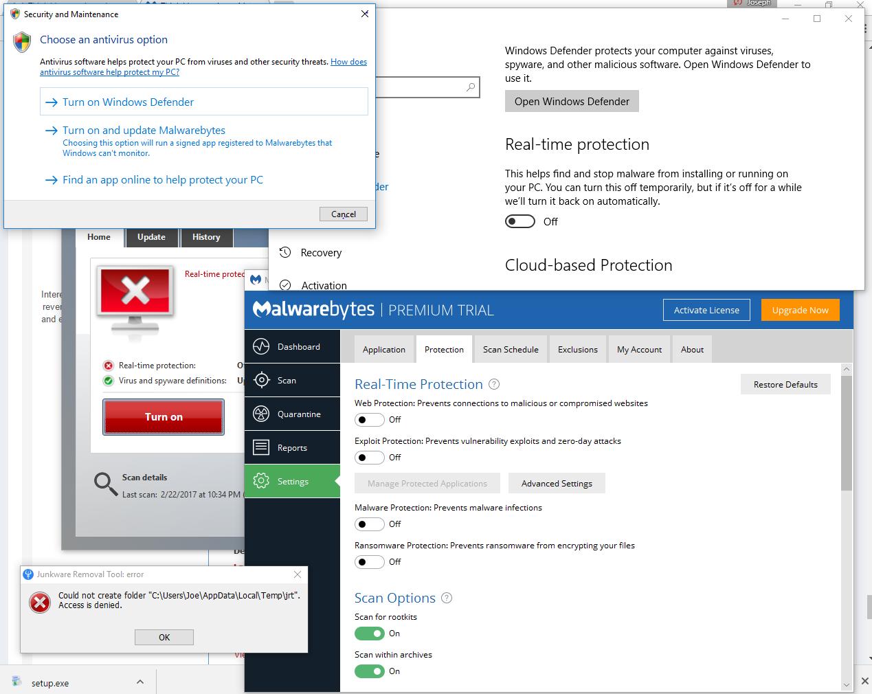 Think I have a virus - Resolved Malware Removal Logs - Malwarebytes Forums