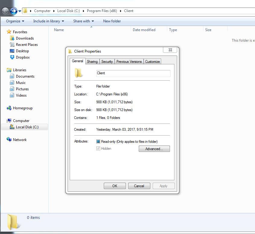 Persistent Virus Hiding in Hidden Directory -rmdir Access