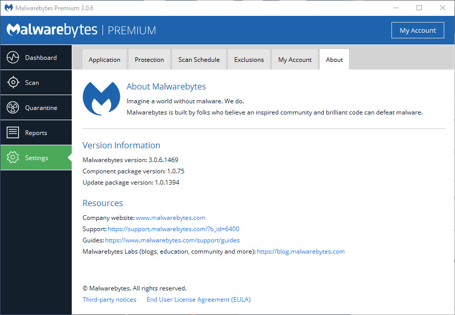 Premium version updates not working - Malwarebytes Anti-Malware for