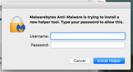 """Asking for my password to """"install a new helper tool""""--safe"""
