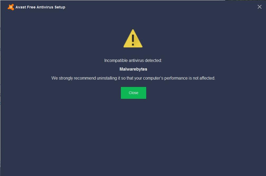 avast and malwarebytes compatibility