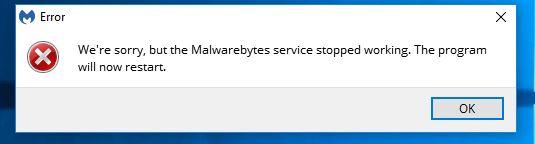 malwarebytes crashes during scan windows 7