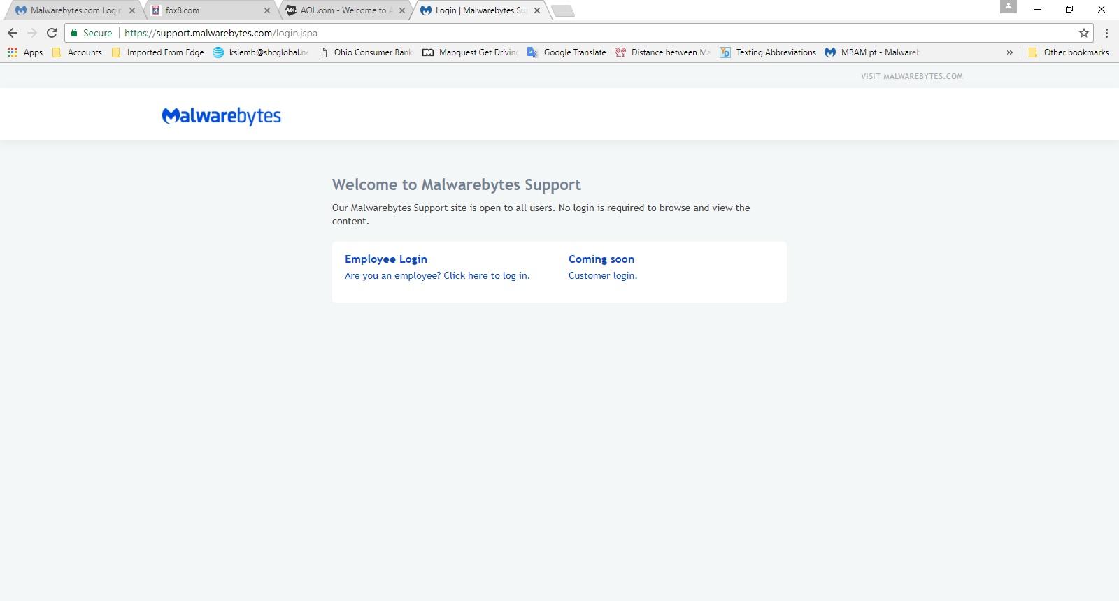 Malwarebytes com Login - General Chat - Malwarebytes Forums