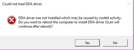 Anti-Rootkit does not run due to