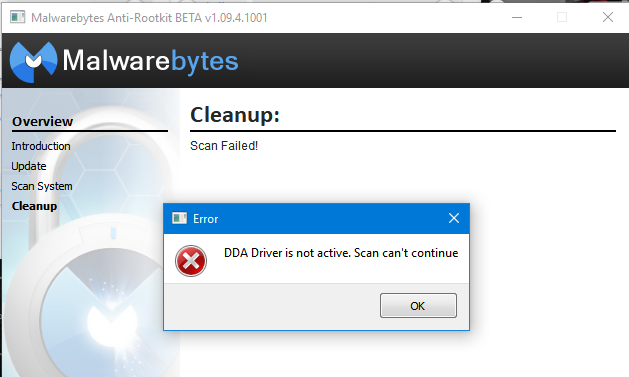 Can't Open Malwarebytes - Resolved Malware Removal Logs