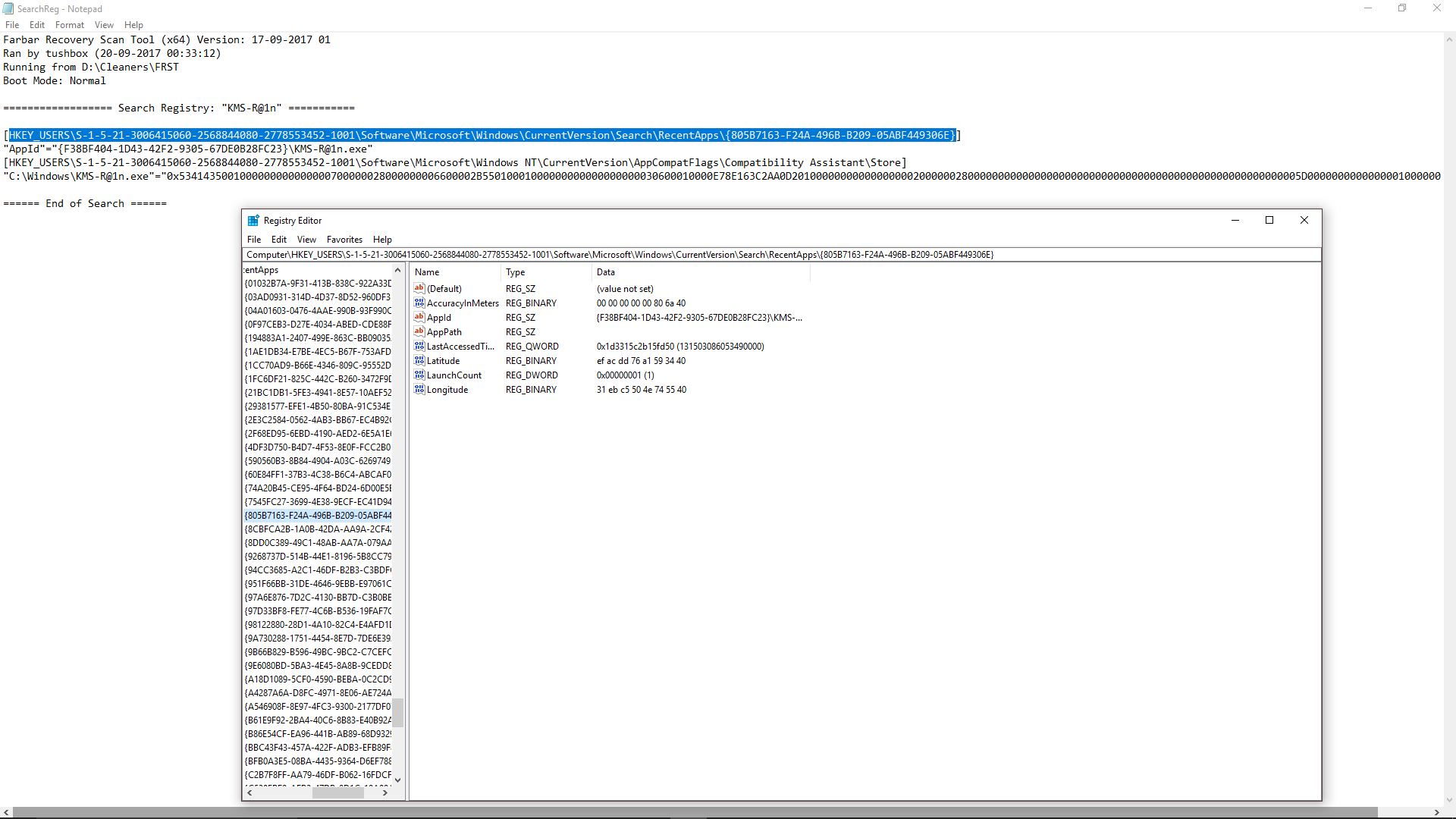 Removal of KMS-R@1n (how-to?) - Resolved Malware Removal