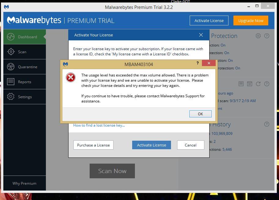 malwarebytes 3.2 2 license