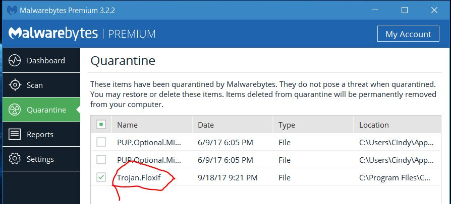 CCLeaner hack - Resolved Malware Removal Logs - Malwarebytes Forums