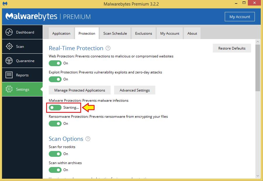 malwarebytes does not open windows 8.1