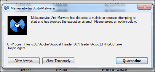 Trojan Agent being reported for Acrobat Reader DC\Reader