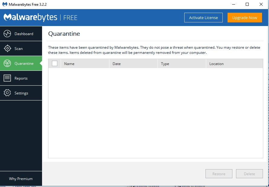 malwarebytes quarantine now clear.JPG