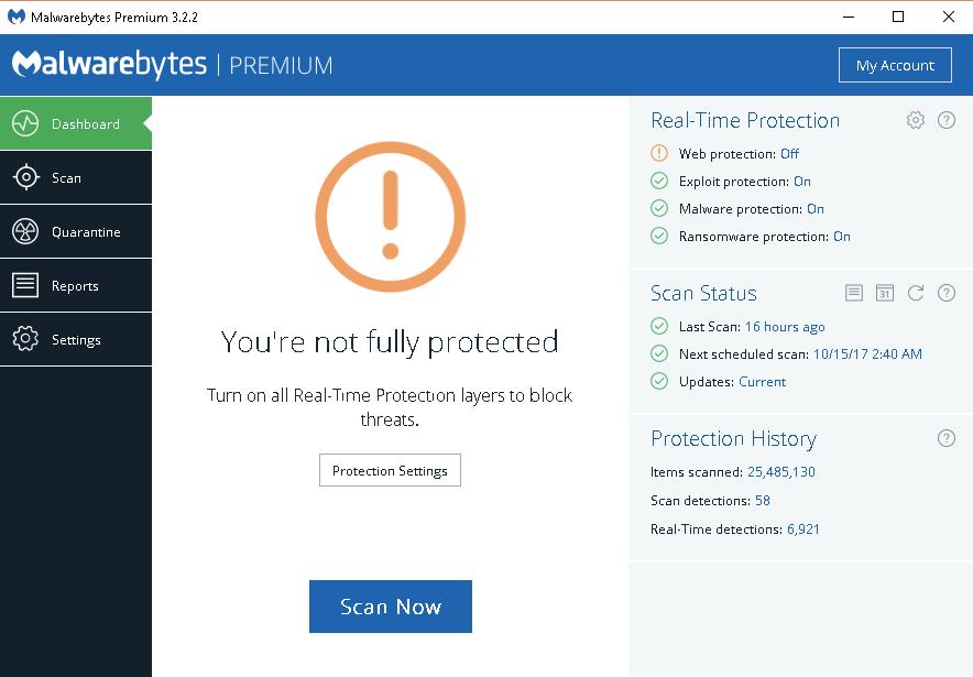 malwarebytes online protection